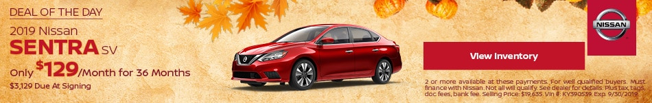 Deal Of The Day 2019 Nissan Sentra SV