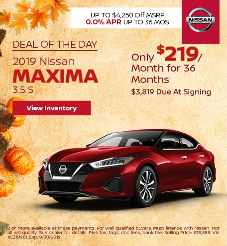 Deal Of The Day 2019 Nissan Maxima 3.5 S