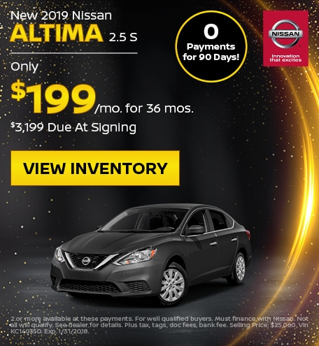New 2019 Nissan Altima 2.5 S