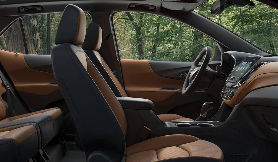 Sideview of the all-leather interior of the 2018 Chevy Equinox