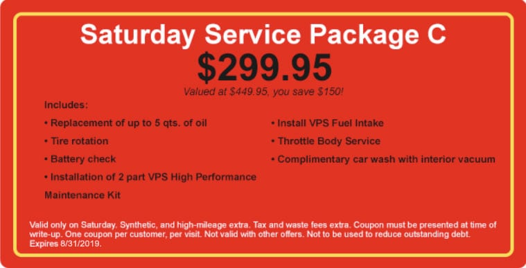 Saturday Service Package C