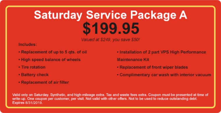 Saturday Service Package A