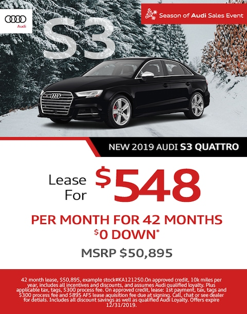 New Audi S3 Lease Offer - December