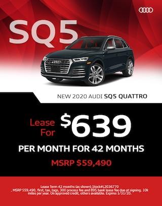 SQ5 Lease Offer Audi 2020