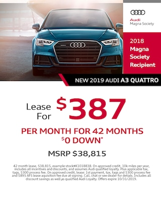 2019 Audi A3 Lease Specials