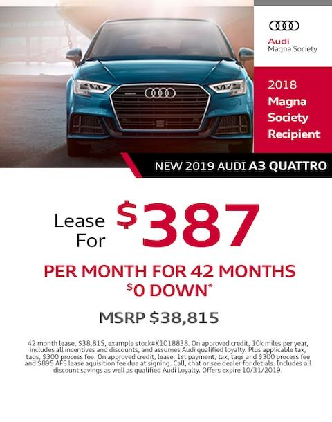 2019 Audi A3 Lease Specials