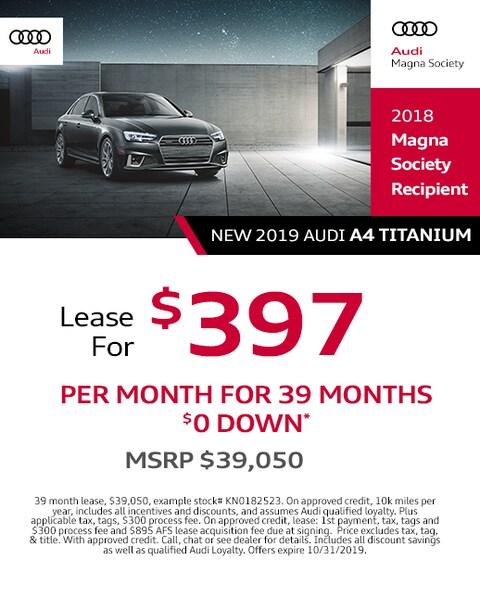 2019 Audi A4 Lease Specials