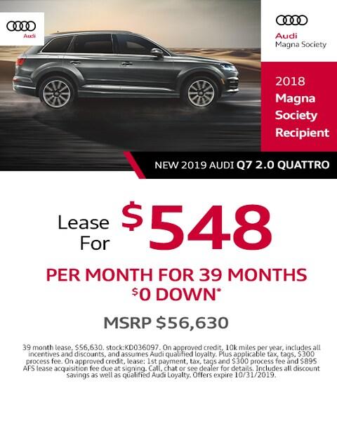 2019 Audi Q7 Lease Specials
