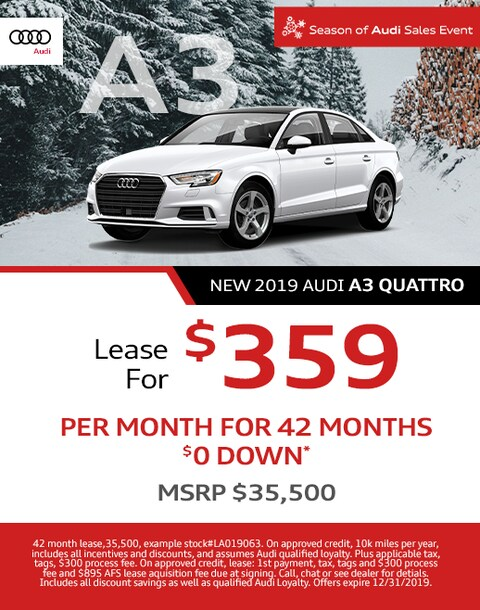 New Audi A3 Lease Offer - December