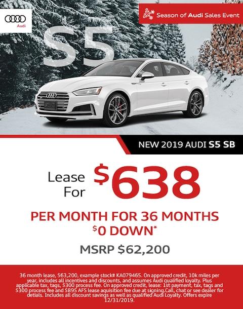 New Audi S5 Lease Offer - December
