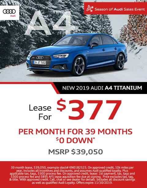 2019 Audi A4 Titanium Lease Special
