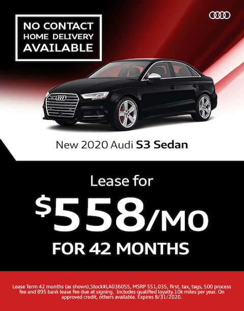 2020 Audi S3 Lease Specials