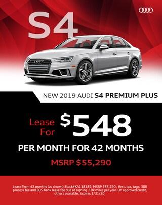 S4 Quattro Lease Special 2020 Audi
