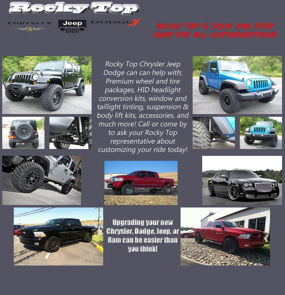 top gun customz exclusive distributor rocky top chrysler jeep dodge kodak tn. Black Bedroom Furniture Sets. Home Design Ideas