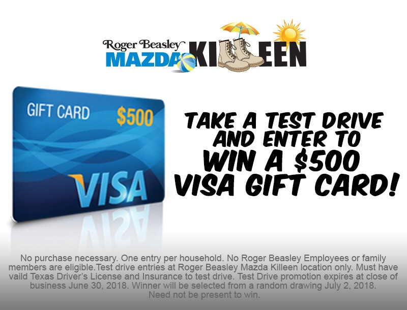 Nice No Roger Beasley Employees Or Family Members Are Eligible. Test Drive  Entries At. Roger Beasley Mazda Killeen ...