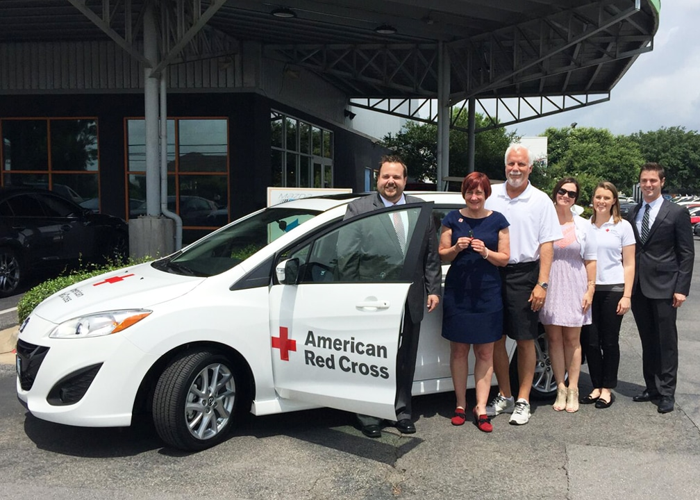 On July 7, 2015, Roger Beasley Mazda Partnered With Mazda To Present The  American Red Cross Of Central Texas With A New Mazda 5.