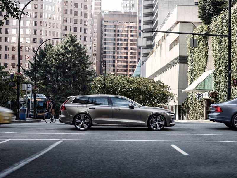 2019 Volvo V60 on the road