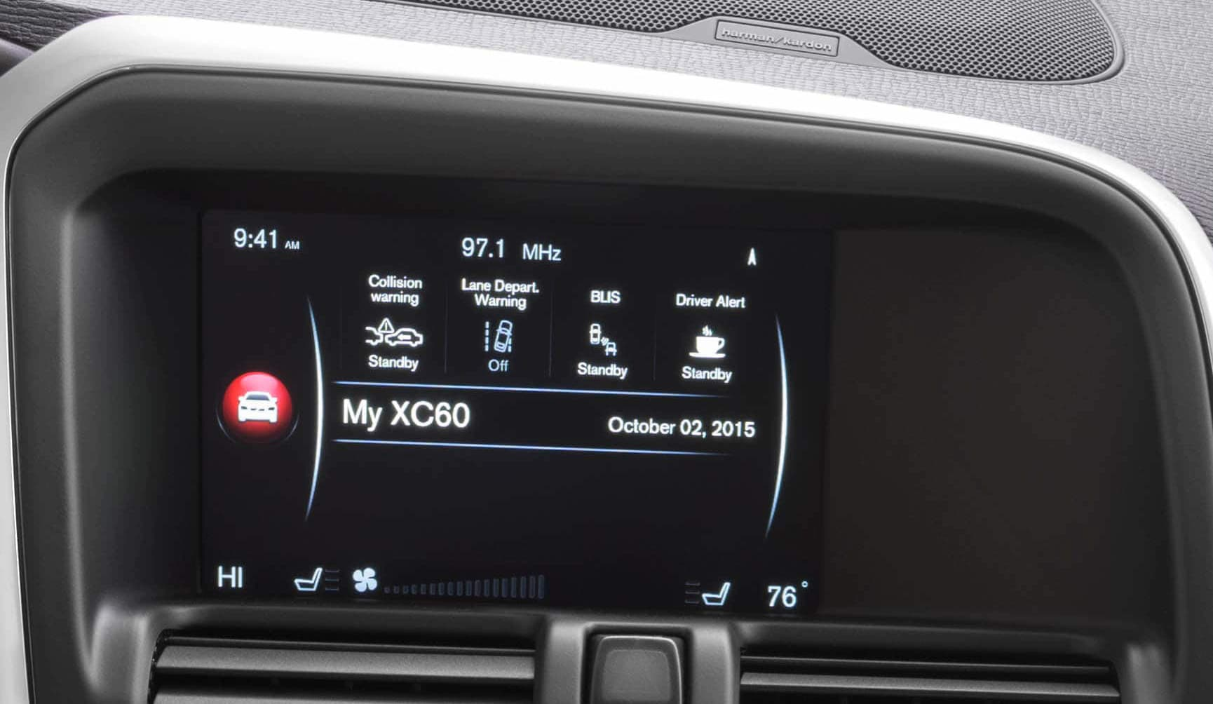 Volvo Sensus Connect Touchscreen