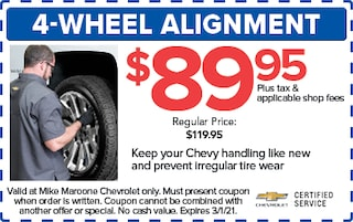 4-wheel alignment (West Palm Beach Chevrolet)
