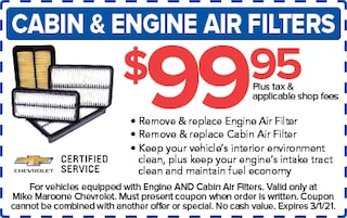Cabin Air Filters (West Palm Beach Chevrolet)