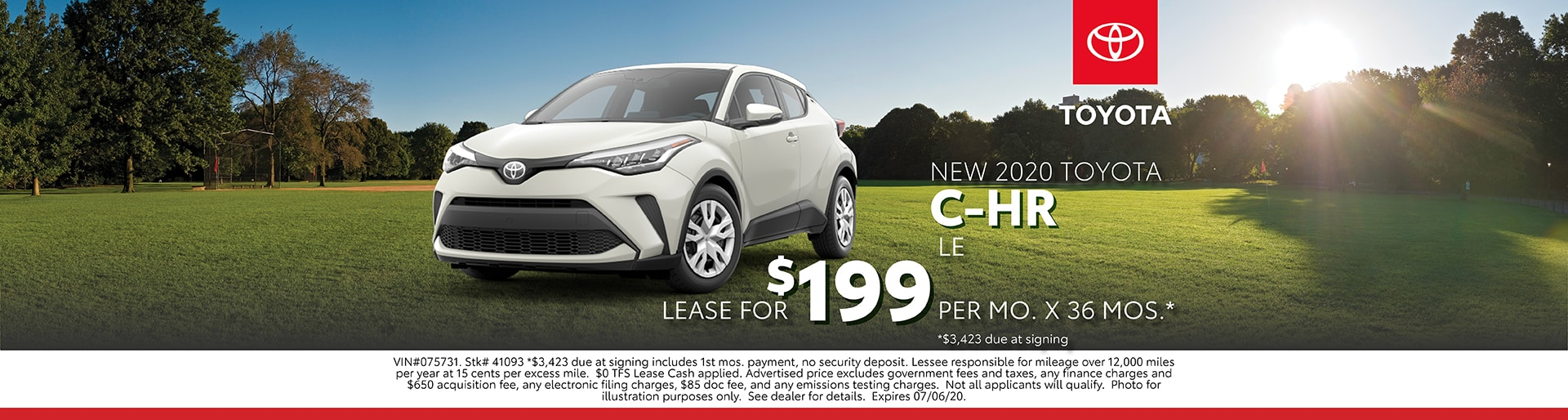 C-HR Lease Offer