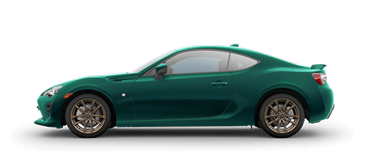 A green 2020 Toyota 86