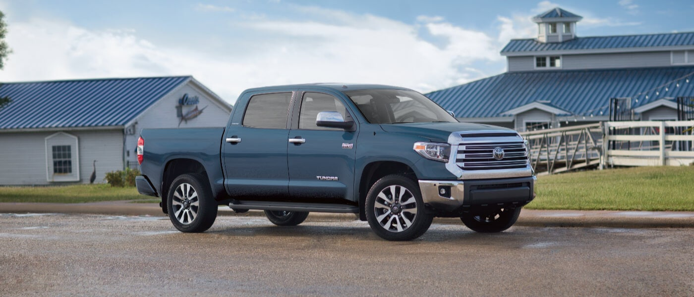 2020 Toyota Tundra parked by a ranch