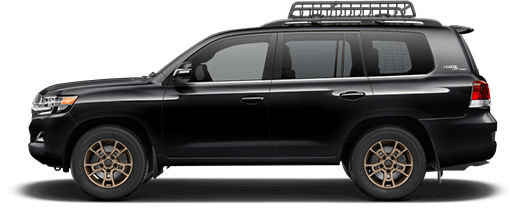 A black 2020 Toyota Land Cruiser