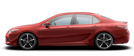 A red 2020 Toyota Camry