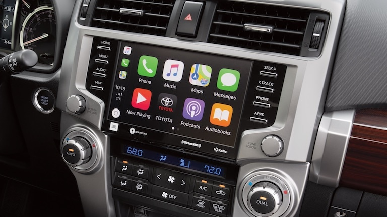 Toyota 4Runner Apple Car Play infotainment