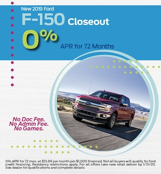 New 2019 Ford F-150 Closeout