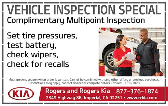 Vehicle Inspecition Special