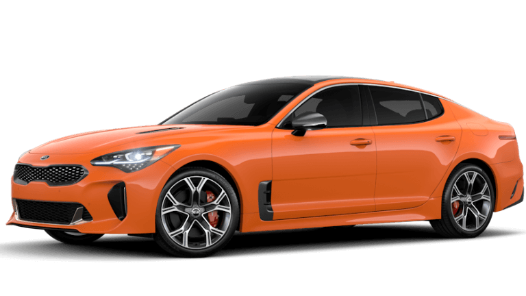 2019 Kia Stinger GTS in orange