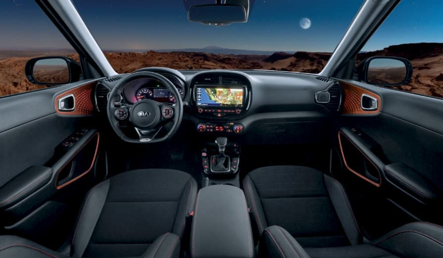Interior of a 2020 Kia Soul