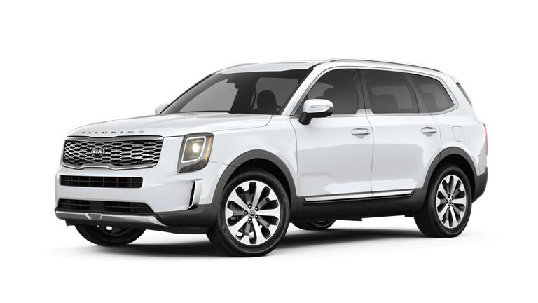 2020 Kia Telluride in snow pearl
