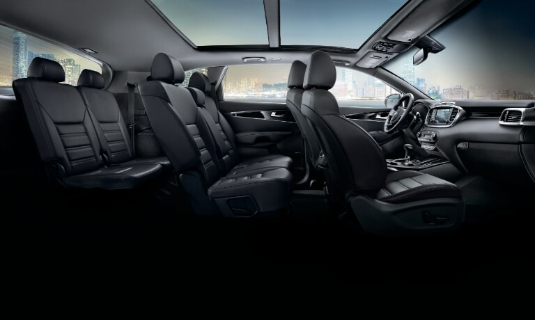 2020 Kia Sorento Interior side shot cut away