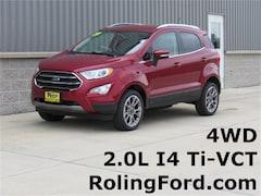 New 2019 Ford EcoSport Titanium SUV MAJ6S3KL4KC254394 for sale in Cedar Falls