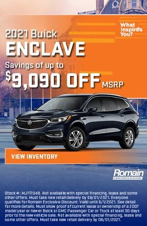 May | 2021 Buick Enclave | Savings