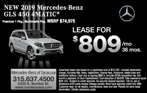 New 2019 Mercedes GLS 450 SUV Leases