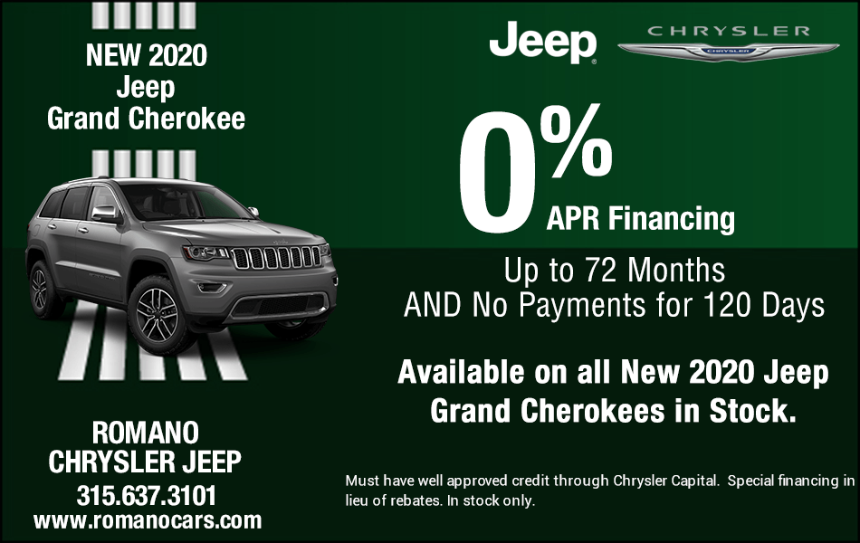 Special APR Available on All New 2020 Jeep Grand Cherokees