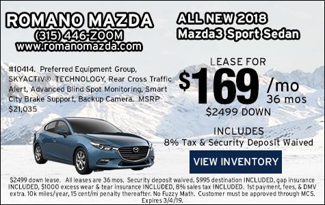 New 2018 Mazda3 Sport Sedan Leases
