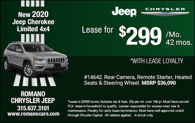 New 2020 Jeep Cherokee Limited Leases