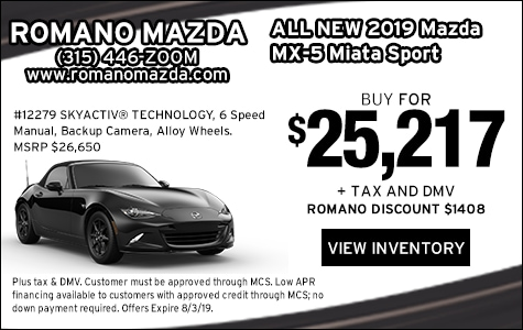 New 2019 Mazda MX-5 Miata Sport