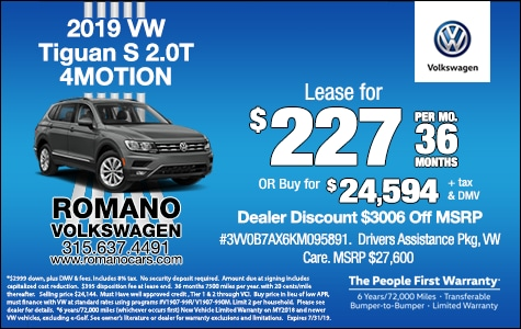 Lease Deals Near Me >> New 2019 Volkswagen Specials Lease Deals Near Me Syracuse Ny