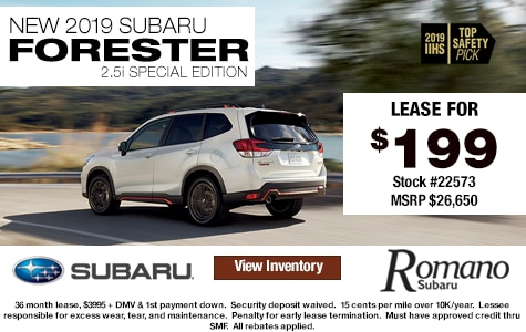 New 2019 Subaru Forester 2.5i Special Edition