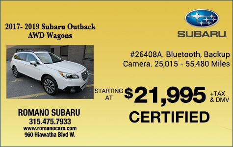 Subaru Certified Pre-Owned Outbacks