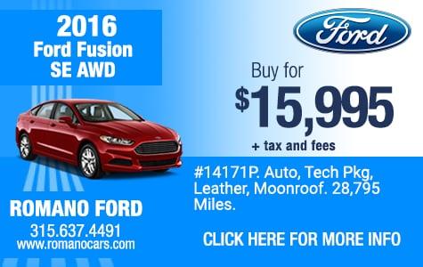 Used 2016 Ford Fusion SE AWD Sedan