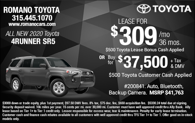 New 2020 Toyota 4Runner SR5 Leases