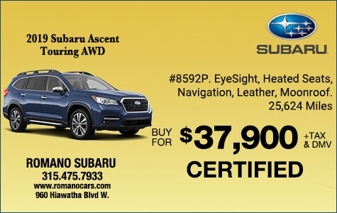 Subaru Certified 2019 Ascent Touring AWD