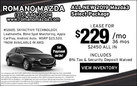 New 2019 Mazda3 SE Leases